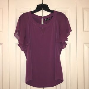Purple New York and Company Blouse